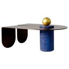 U&I Coffee Table with Brass Storage Sphere by Birnam Wood Studio