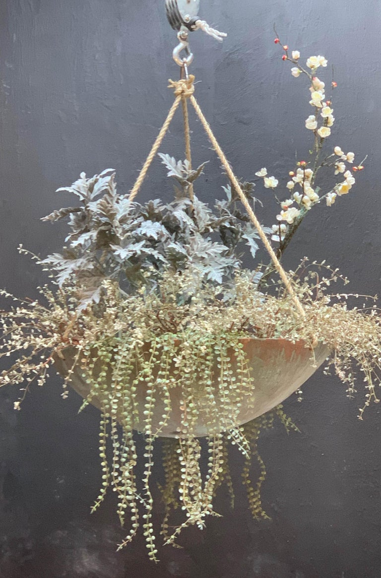 Contemporary Ukiyo Saucer, Concrete Hanging Planter by OPIARY (D11.5