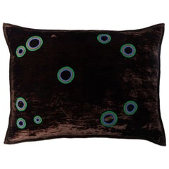 Ular Hand Embroidered Brown Velvet Pillow Cover