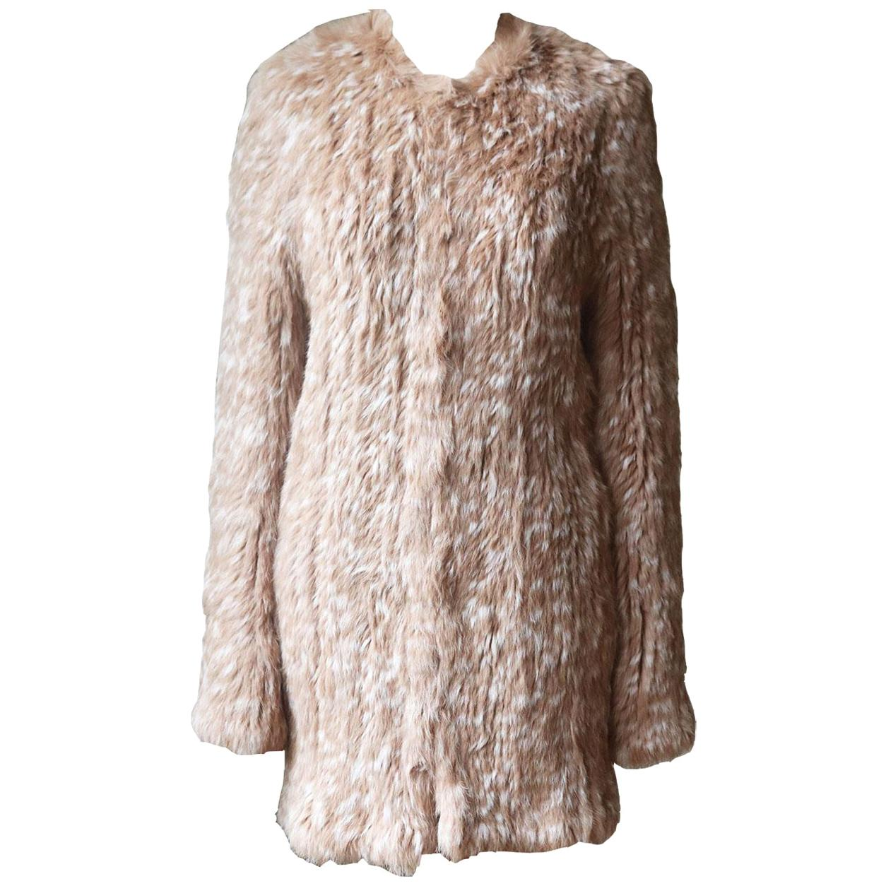 Ulla Johnson Christa Printed Rabbit Fur Coat
