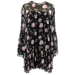 Ulla Johnson Dahlia Rose-Print Silk Georgette Dress estimated size M