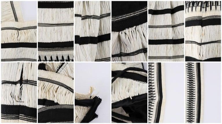 "ULLA JOHNSON Spring 2019 ""Anju"" Raffia Striped Criss Cross Back Maxi Dress NWT For Sale 6"