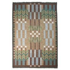 Ulla Parkdal Designed Swedish Flat Weave, Sweden 1960's
