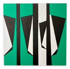 Cut-Up Canvas 2003 (Abstract painting)