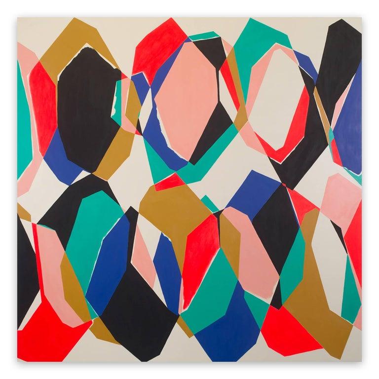 Ulla Pedersen Abstract Painting - Cut-Up Canvas II.1