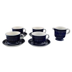 """Ulla Procope for Arabia, """"Valencia"""" Coffee Service in Hand Painted Porcelain"""
