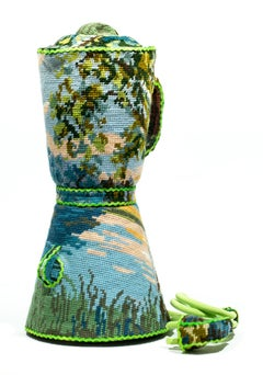 """""""Blender"""", Found Object Sculpture, Needlepoint Embroidery, Textile Art"""