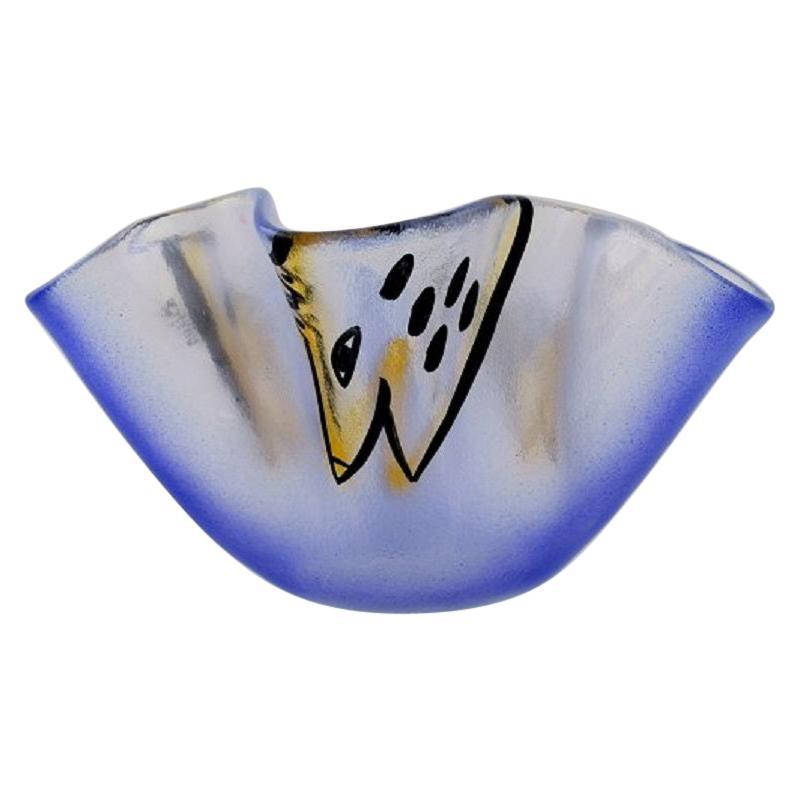 Ulrica Hydman Vallien for Kosta Boda, Bowl in Mouth-Blown Art Glass