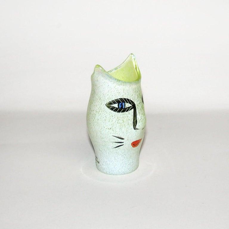 Scandinavian Modern Ulrica Hydman Vallien for Kosta Boda, Sweden, Vase in Mouth Blown Art Glass For Sale