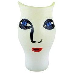 Ulrica Hydman Vallien for Kosta Boda, Sweden, Vase in Mouth-Blown Art Glass