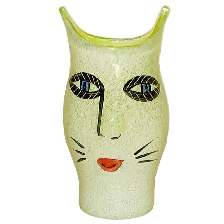Ulrica Hydman Vallien for Kosta Boda, Sweden, Vase in Mouth Blown Art Glass For Sale
