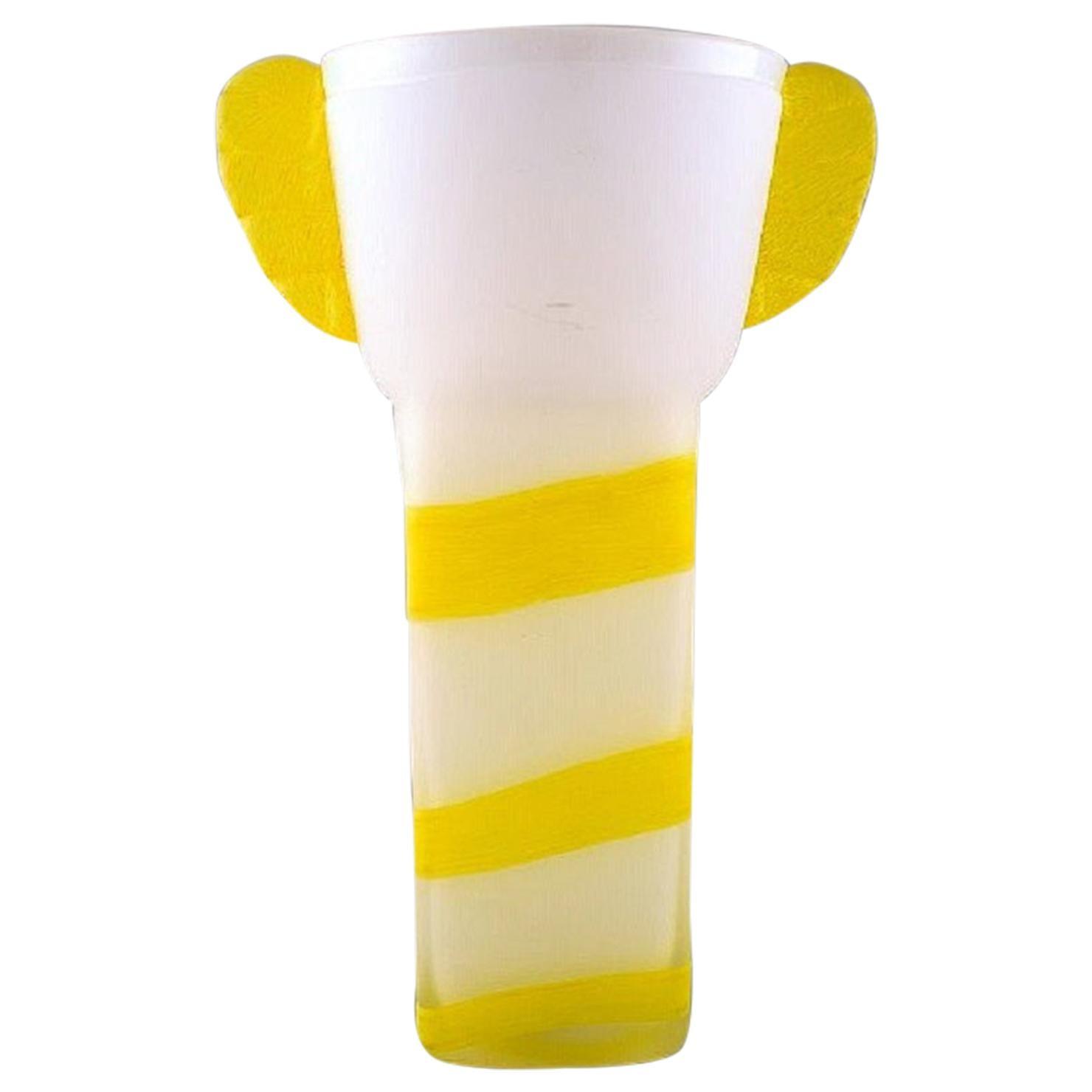Ulrica Hydman Vallien for Kosta Boda, Unique Vase in Mouth-Blown Art Glass