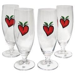 Ulrica Hydmann Vallien Kosta Boda Set of Four Beer Glasses