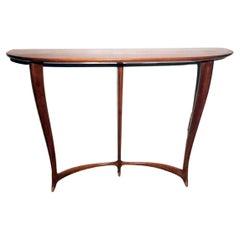 Ulrich Guglielmo Italian Designer Red Walnut Console Table