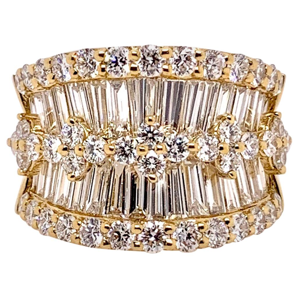 Ultimate Diamond Cocktail Ring Band in 18 Karat Yellow Gold