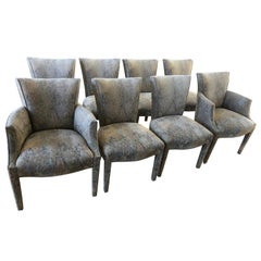 Ultra Chic Set of 8 Donghia Upholstered Dining Chairs