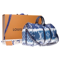 ULTRA EXCLUSIVE-BRAND NEW-LV Keepall 50 strap ESCALE COLLECTION in pastel canvas