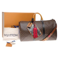 "ULTRA EXCLUSIVE-BRAND NEW-LV Keepall 50 strap ""Patchwork"""