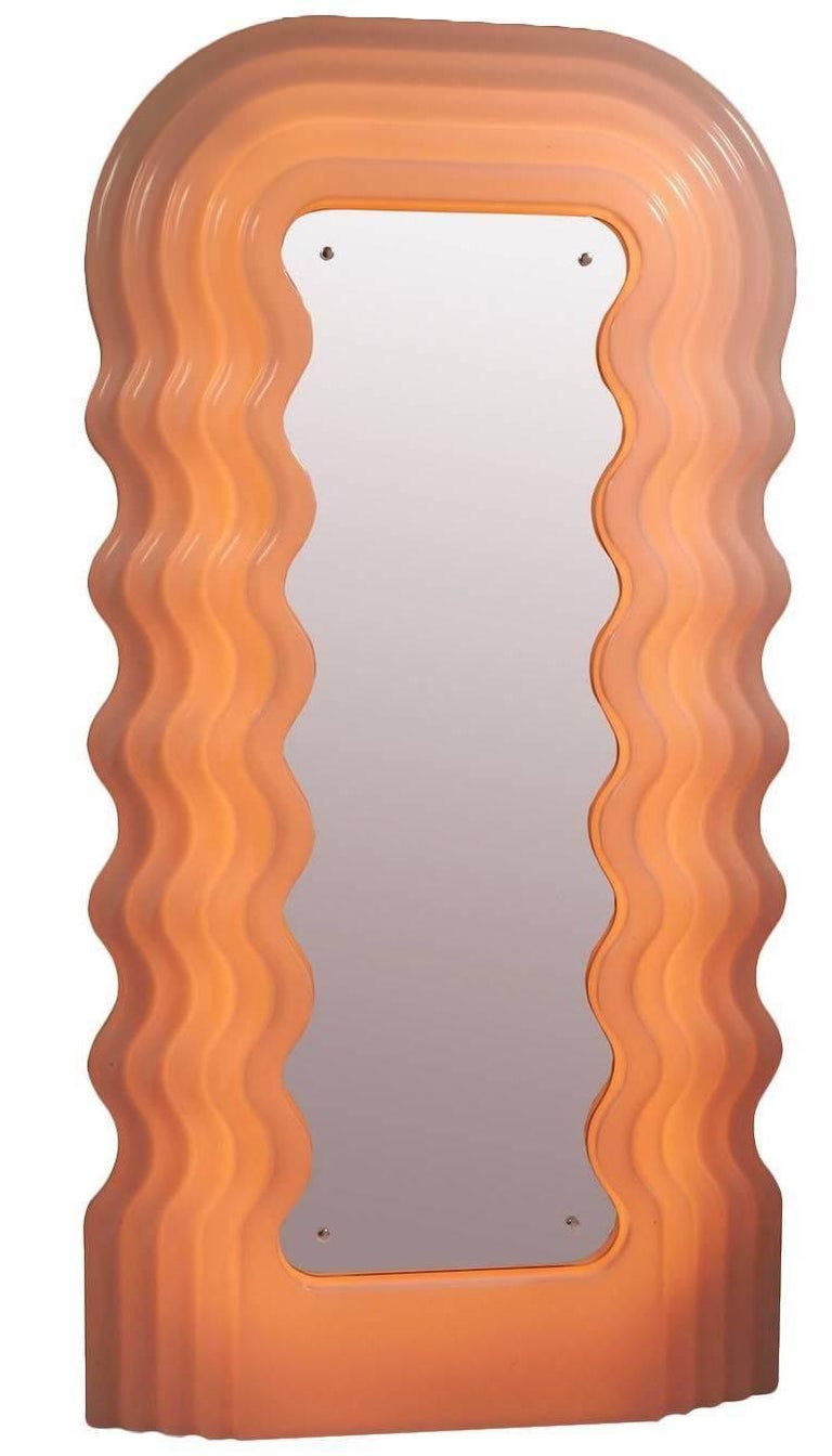 Modern Ultra Fragola Mirror by Ettore Sottsass For Sale
