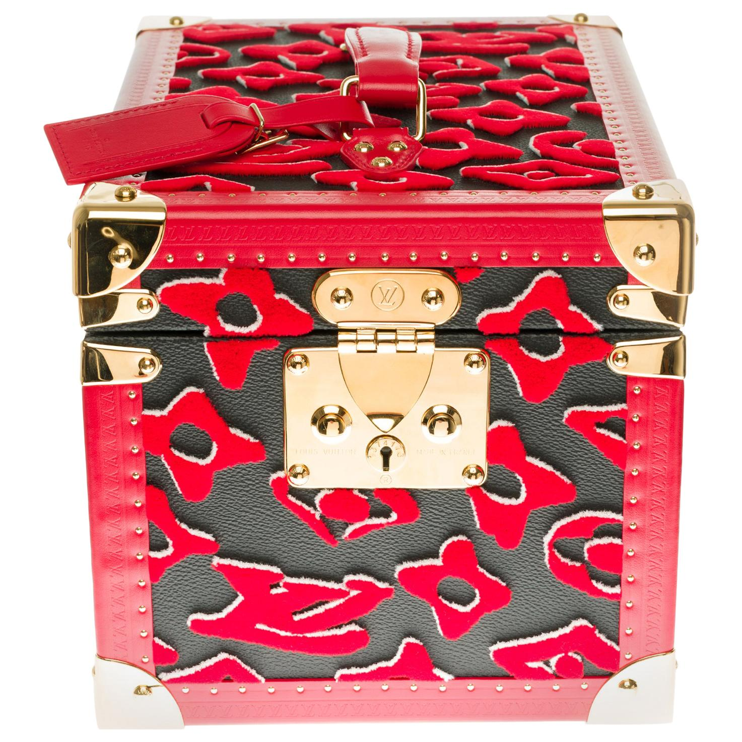 Ultra limited/Few pieces in the world/Louis Vuitton Vanity Case in red Tufa