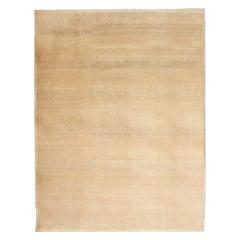 Rain No.2 - Ultra-Modern Cream and Camel Contemporary Wool Carpet - 9' x 12'