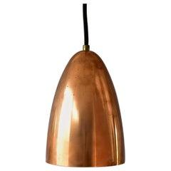 Ultra Rare 1950s Svend Aage Holm Sorensen Copper Pendant Lamp, Made in Denmark