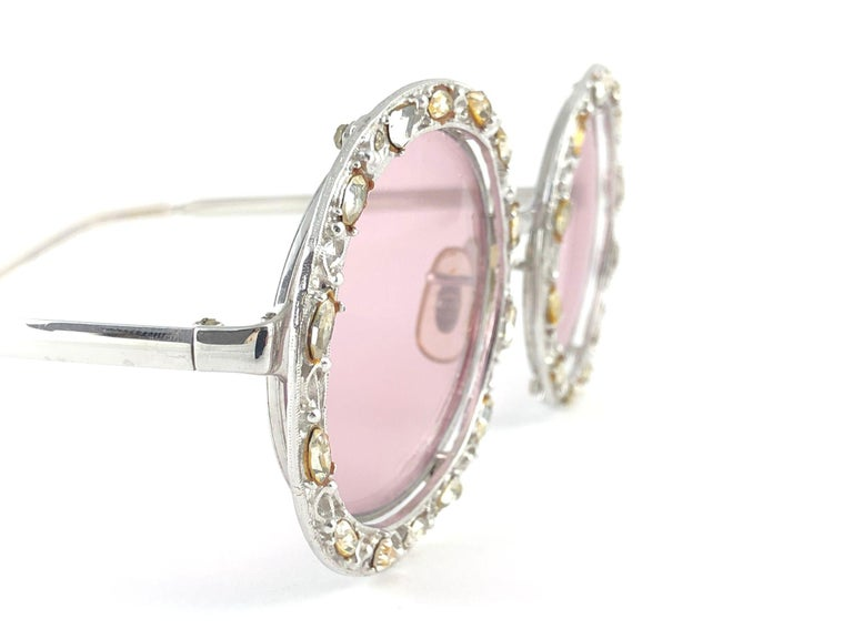 Ultra Rare 1960 Christian Dior Crystalline Accented Archive Dior Sunglasses For Sale 5