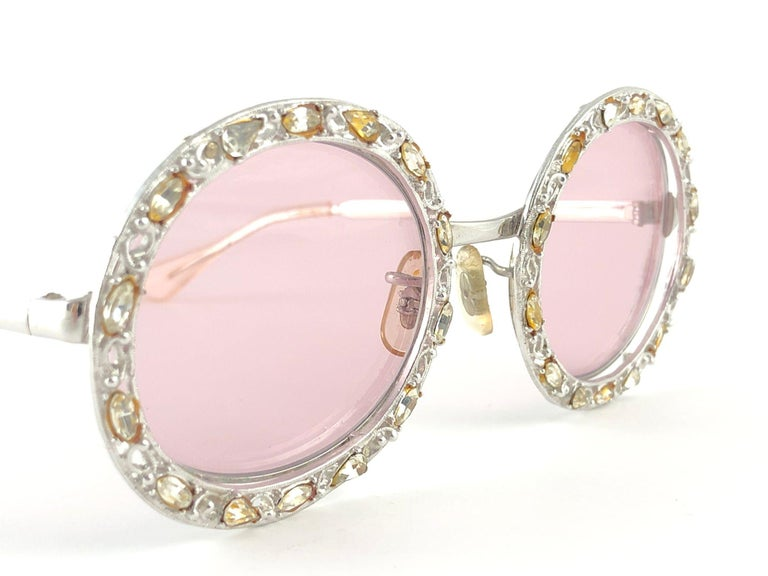 Ultra Rare 1960 Christian Dior Crystalline Accented Archive Dior Sunglasses For Sale 7