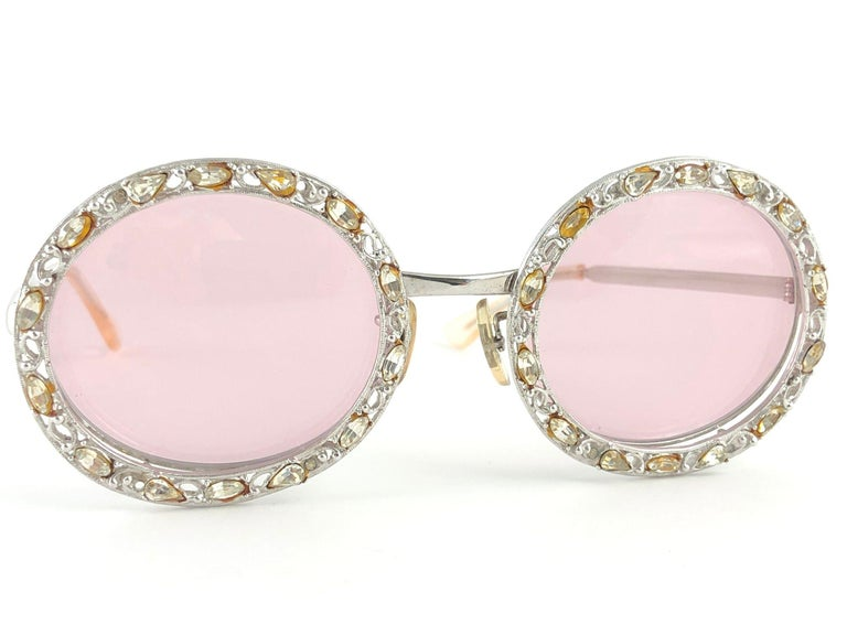 Ultra Rare 1960 Christian Dior Crystalline Accented Archive Dior Sunglasses For Sale 9