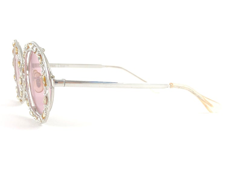 Ultra Rare 1960 Christian Dior Crystalline Accented Archive Dior Sunglasses In Excellent Condition For Sale In Amsterdam, Noord Holland