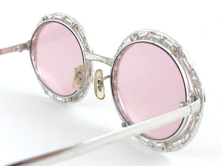 Ultra Rare 1960 Christian Dior Crystalline Accented Archive Dior Sunglasses For Sale 4
