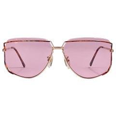 Ultra Rare 1970's Tura 425 Oversized Tortoise Gold Light Lenses Sunglasses