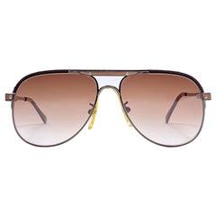 Ultra Rare 1970's Tura Oversized Copper Brown Gradient Lenses Sunglasses