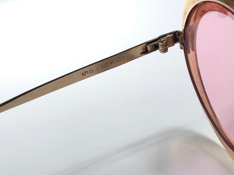 Ultra Rare Christian Dior Gypsy Rose Enamel Oversized Sunglasses, 1969  For Sale 1