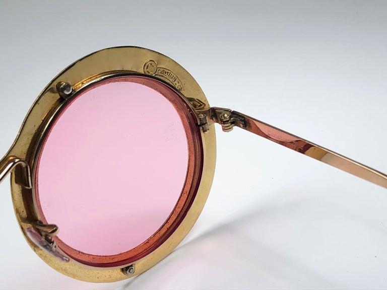 Ultra Rare Christian Dior Gypsy Rose Enamel Oversized Sunglasses, 1969  For Sale 2