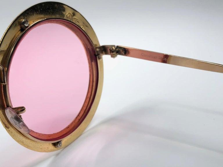 Ultra Rare Christian Dior Gypsy Rose Enamel Oversized Sunglasses, 1969  For Sale 3