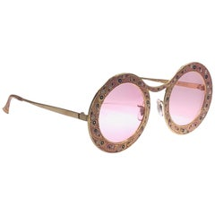 Ultra Rare Christian Dior Gypsy Rose Enamel Oversized Sunglasses, 1969