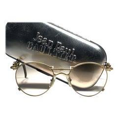 Ultra Rare Jean Paul Gaultier 56 0174 Round Copper Lens 1990's Sunglasses Japan
