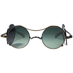 Ultra Rare Jean Paul Gaultier Junior 58 0175 Copper Black Green Lens 1990 Japan