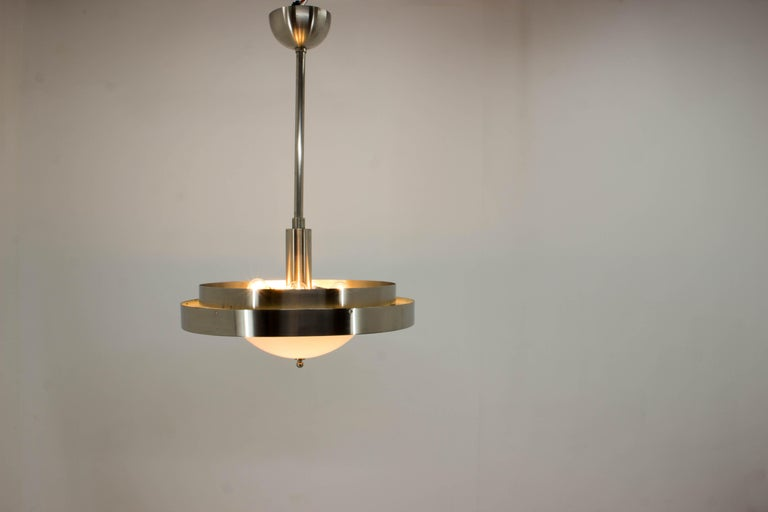 Ultra Rare Large Bauhaus Chandelier by Franta Anyz, 1930s For Sale 5