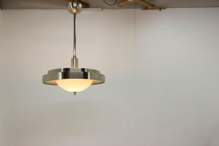Ultra Rare Large Bauhaus Chandelier by Franta Anyz, 1930s For Sale 6