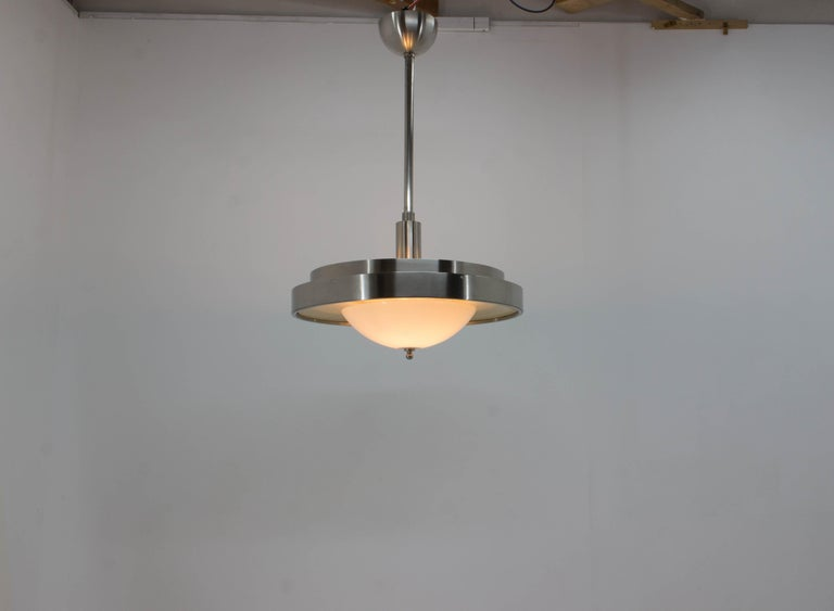 Ultra Rare Large Bauhaus Chandelier by Franta Anyz, 1930s For Sale 7