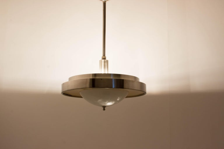 Ultra Rare Large Bauhaus Chandelier by Franta Anyz, 1930s For Sale 8