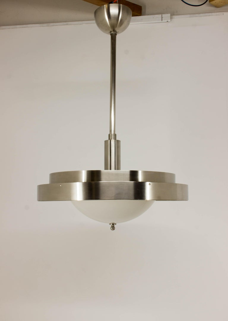 Czech Ultra Rare Large Bauhaus Chandelier by Franta Anyz, 1930s For Sale