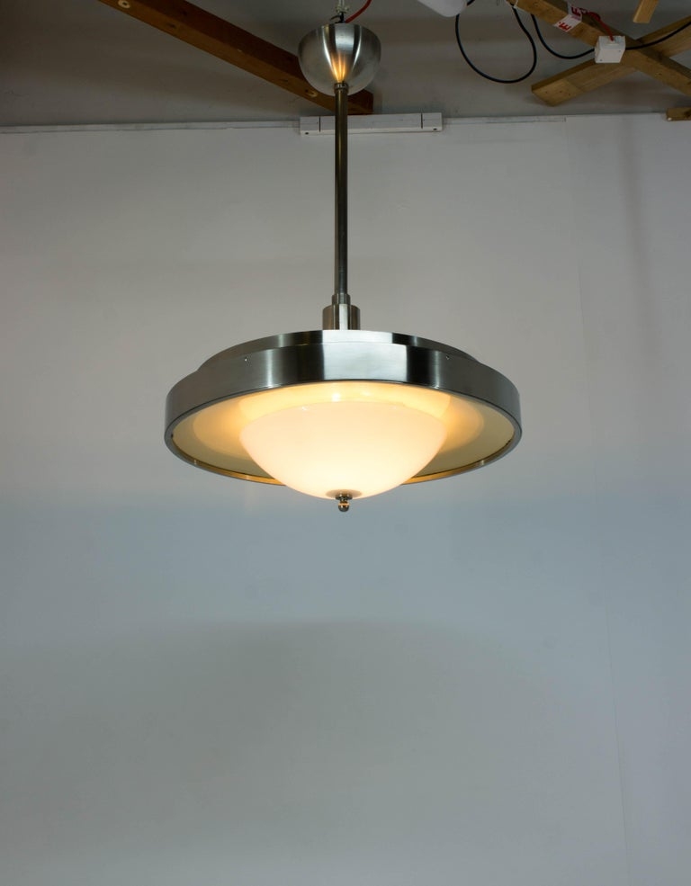 Ultra Rare Large Bauhaus Chandelier by Franta Anyz, 1930s In Good Condition For Sale In Praha, CZ