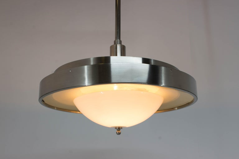 Mid-20th Century Ultra Rare Large Bauhaus Chandelier by Franta Anyz, 1930s For Sale