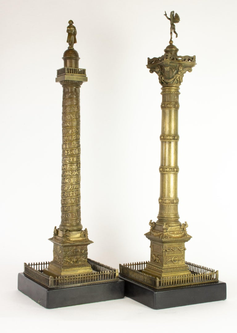 About   Paris' July Column (aka Bastille Column), is an especially difficult model to find. Surmounted by Alexander Dumont's Genius of Liberty, the Column stands at the center of the Place de la Bastille where the infamous prison, long demolished,