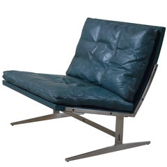 Ultra Rare Turquoise Colored BO561 Lounge Chair by Kastholm - Fabricius