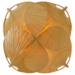 Ultra Rare Uchiwa 'Yotsuba' Flushmount / Wall Light by Ingo Maurer, 1973