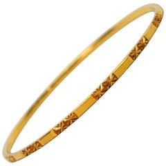Ultra Slim 18 Karat Yellow Gold Bangle Bracelet